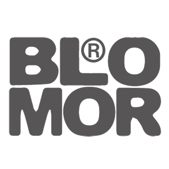 Logo Blomor clothing and bags