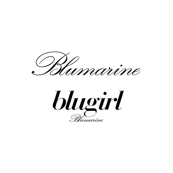 Logo Blumarine and Blugirl accessories and bags