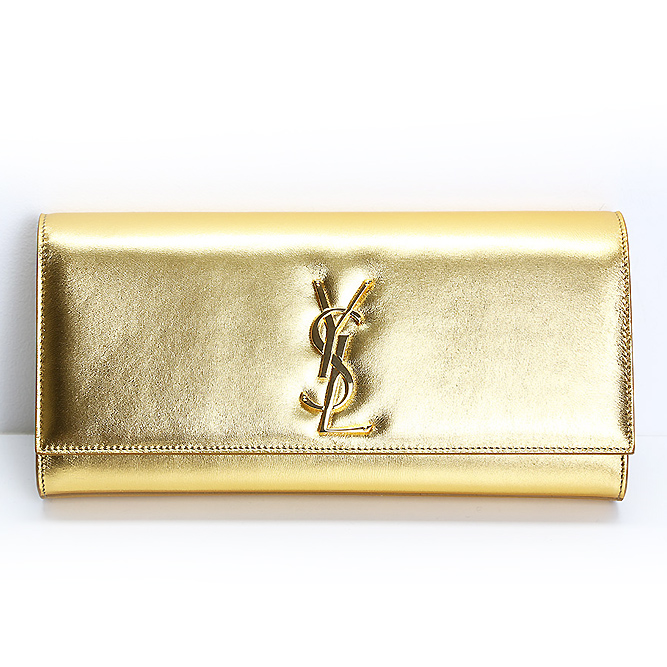 Saint Laurent women pochettes handbags gold colors