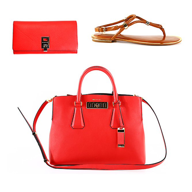 Michael Kors women bags, wallets and flip flops