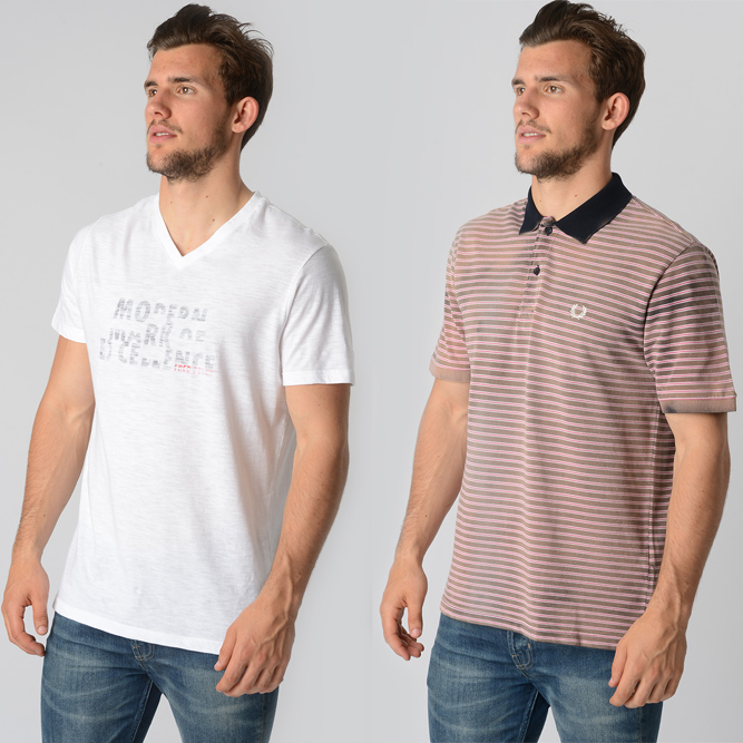 Fred Perry polos and t-shirts
