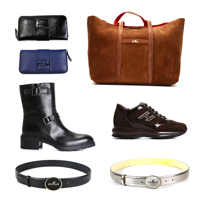 Hogan bags, wallets, belts, half-boots and pumps