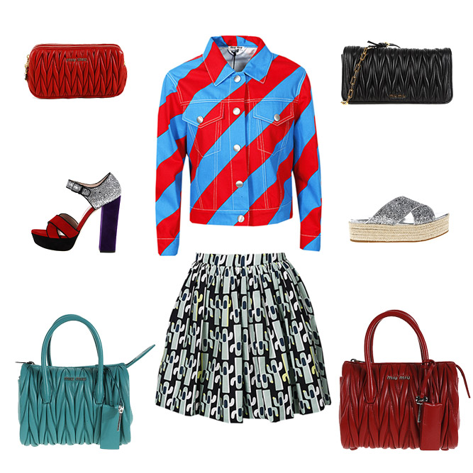 Miu Miu woman bags, clothes and shoes