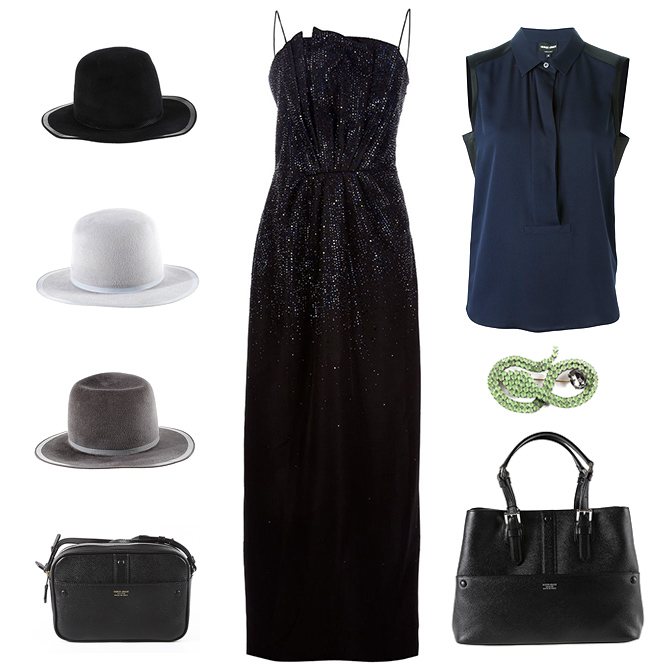 Armani woman accessories, bags and clothes