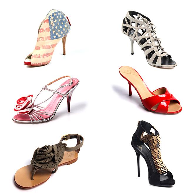 朱塞佩Zanotti的鞋子的女人
