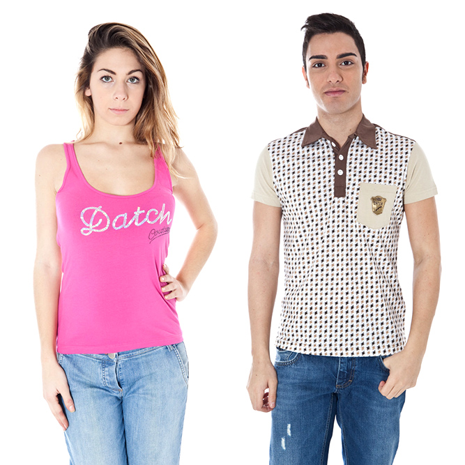 Datch woman and man