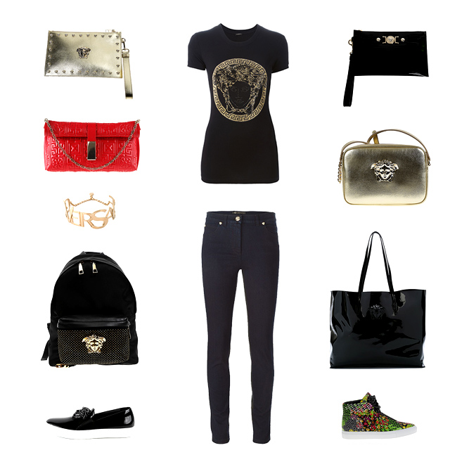 Versace woman a ccessories, bags, clothes and shoes