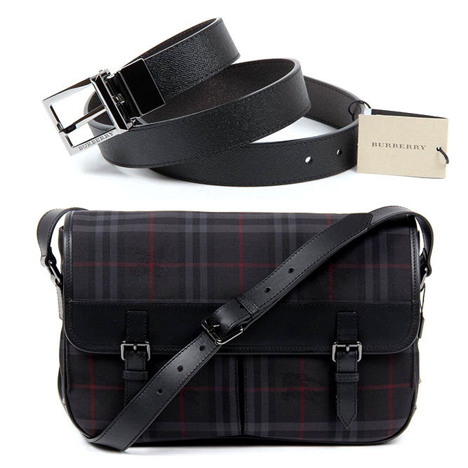 Burberry man belts and bags