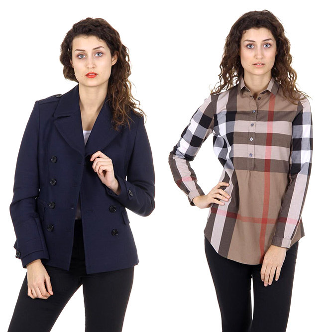 Burberry woman jackets and shirts