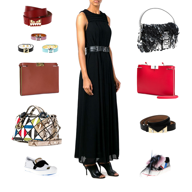 Fendi woman accessories, bags, clothes and shoes