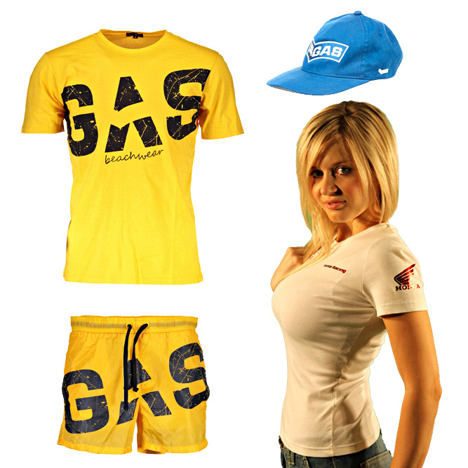 Gas accessories, beachwear and clothes
