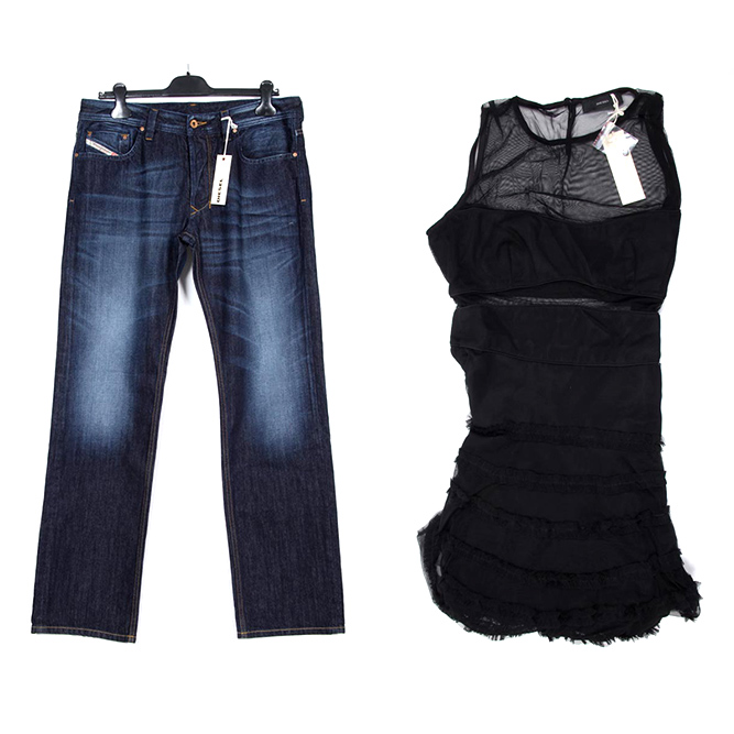Diesel man and woman clothes