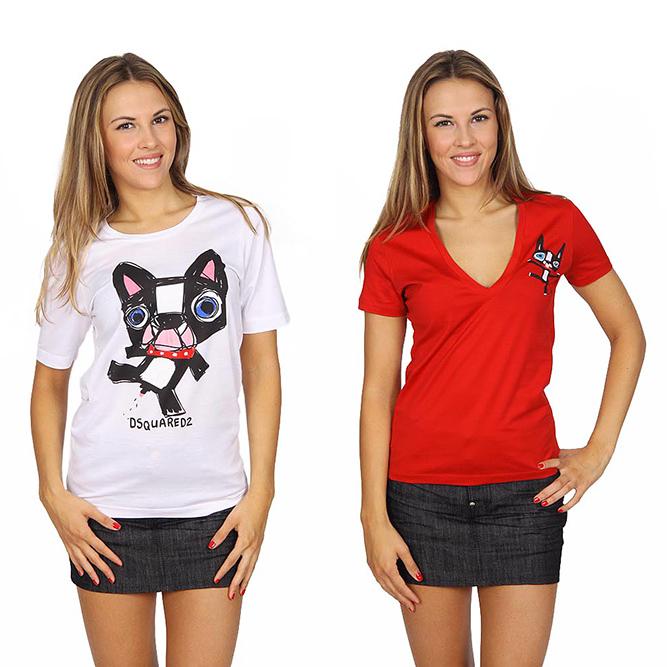 Dsquared2 woman t-shirts